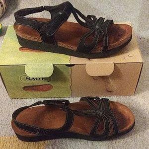 NAOT size 39 black Rachel suede sandal